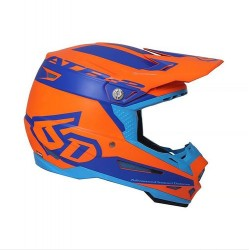 6D Casque cross SECTOR ATR-2 Orange-Bleu L