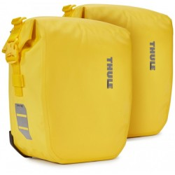 "Sacoche-Set THULE pack\'n pedal ""Shield Pannier\"" LARGE 2x25L. Jaune"