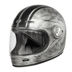 Origine Vega casque Custom argent mat L
