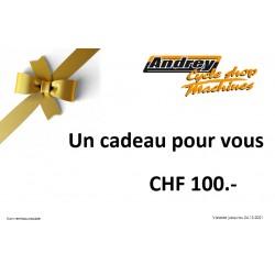 Bon d'achat CHF 100.-