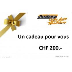 Bon d'achat CHF 200.-