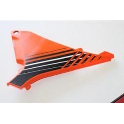 Couvert de filtre à air orange /noir Droit SX  12