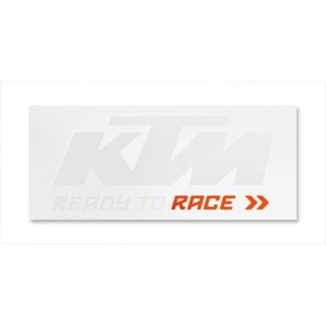 Autocollant KTM Blanc/Orange