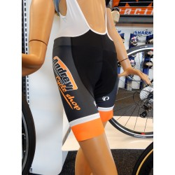 Elite bib cuissard andrey cycle shop Noir/Orange/Blanc *L
